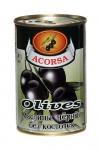 Оливки черные без косточек 300 гр.