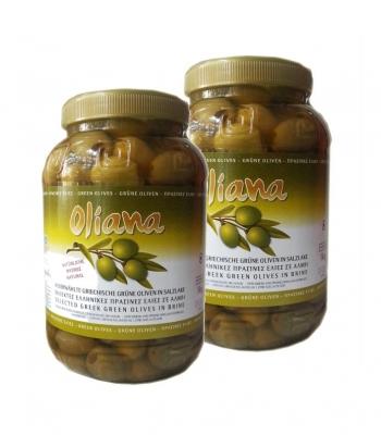 Оливки Халкидики крупные 2 банки по 1 кг