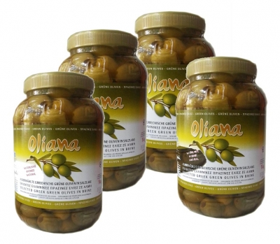 Оливки Халкидики крупные 4 банки по 1 кг