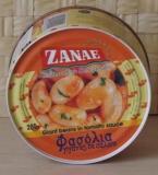 Zanae, Фасоль гигантская печеная в томатном соусе 2кг, шт