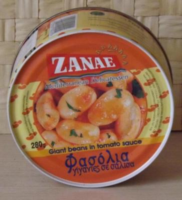 Фасоль гигантская в томатном соусе 280 гр