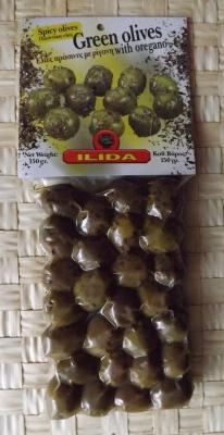 Зеленые оливки с Орегано