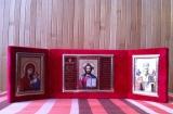 """64 Складень Триптих """"Спаситель, Богородица, св. Николай"""""""