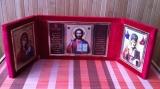 """44 Складень """"Спаситель, Богородица, св. Николай, бл. Матрона"""""""