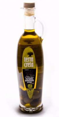 Нефильтрованное Оливковое масло в Амфоре с Оливками - 0.5 литра