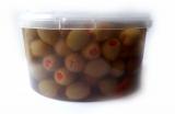 Зеленые оливки фаршированные перцем 1,6 кг