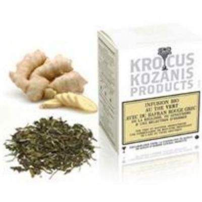Зеленый чай с греческим красным шафраном и имбирем