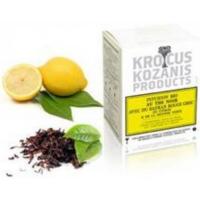 Черный чай с греческим красным шафраном и лимоном