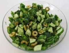 салат с зелёными оливками рецепт